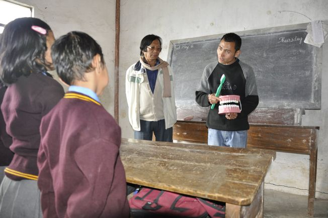 Provide toothbrushes for students in a CHHIP School